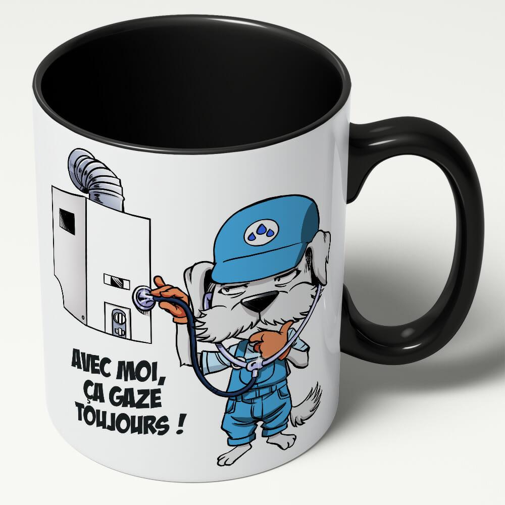 Mug Chauffichon Le Chauffagiste – «Avec Moi, ça Gaze Toujours»