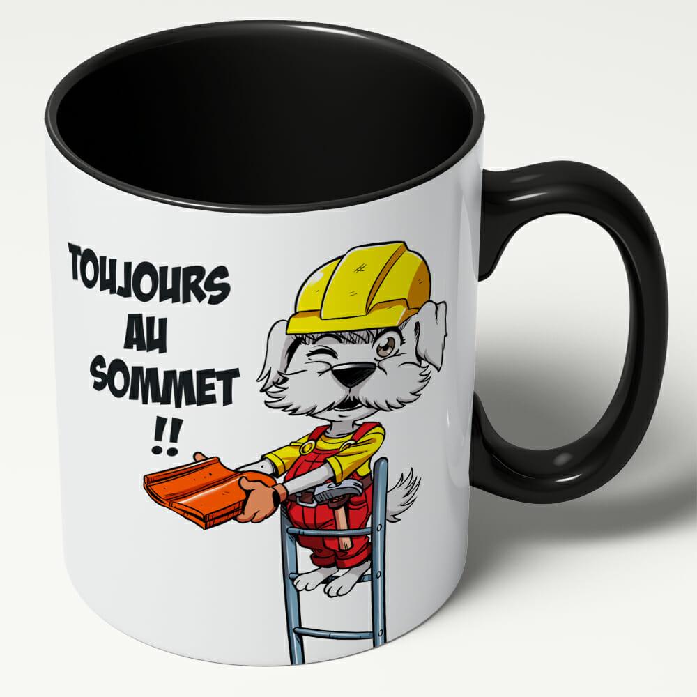 Mug Couvrichon Le Couvreur – «Toujours Au Sommet»