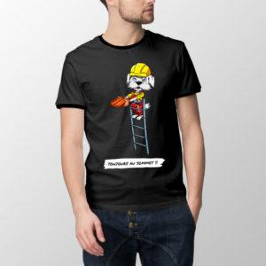 """T-shirt Couvrichon le couvreur - """"Toujours au sommet"""""""