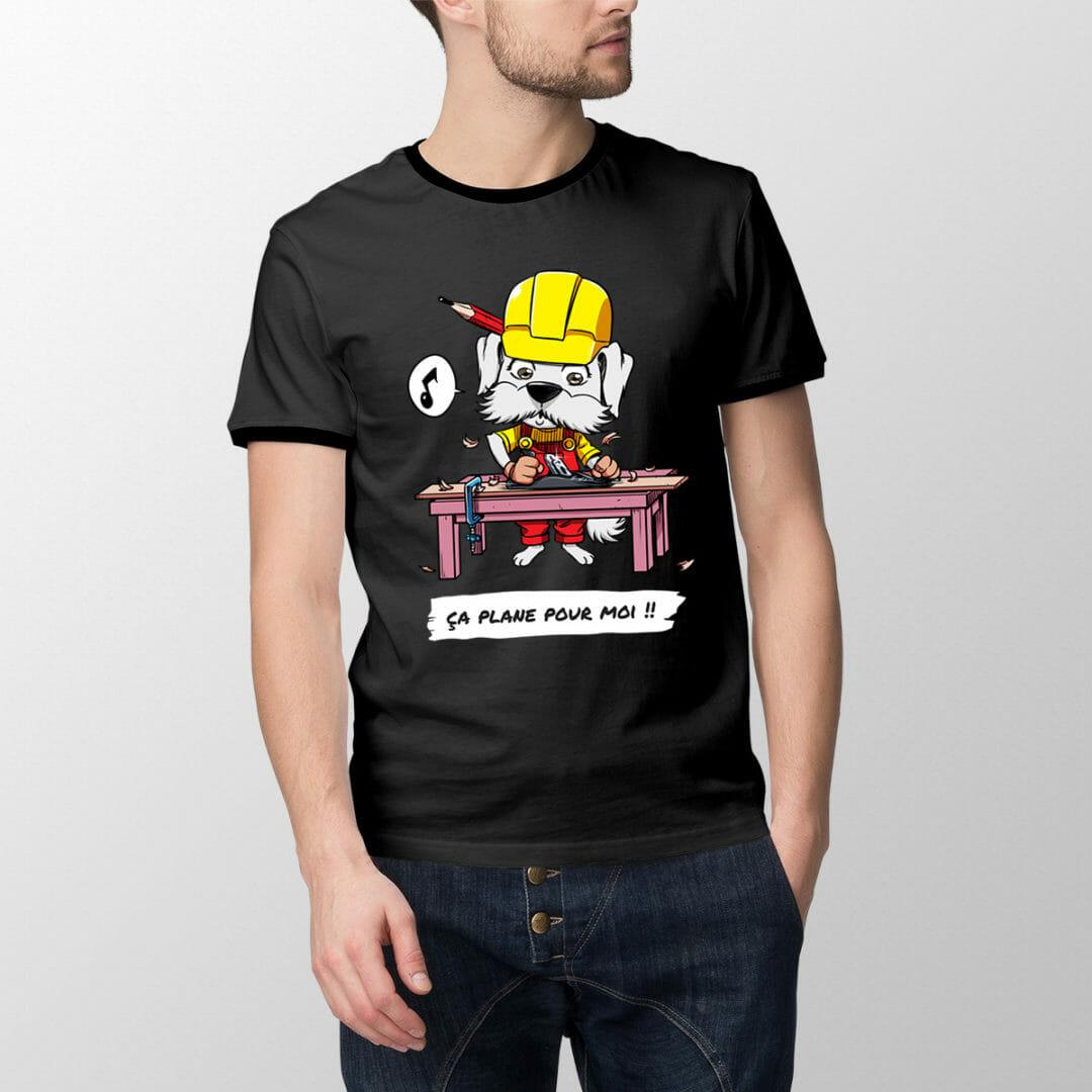 T-shirt Ebichon L'ébéniste- «ça Plane Pour Moi»