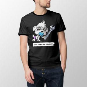 """T-Shirt Bébichon l'Apprenti - """"J'en tiens une couche !"""""""