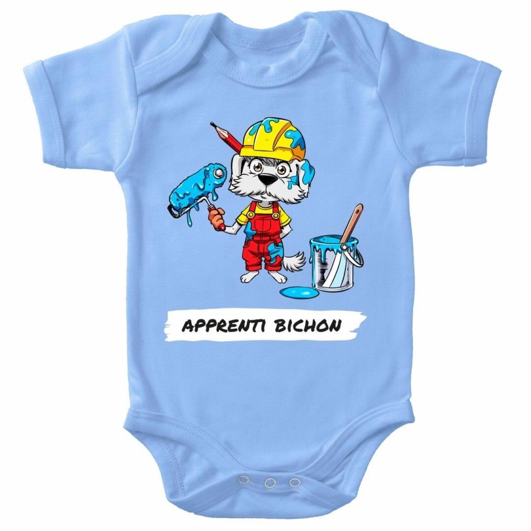 Body Bébé Apprenti Bichon Bleu