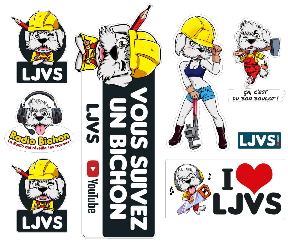 Planche De Stickers LJVS Grand Format N°1