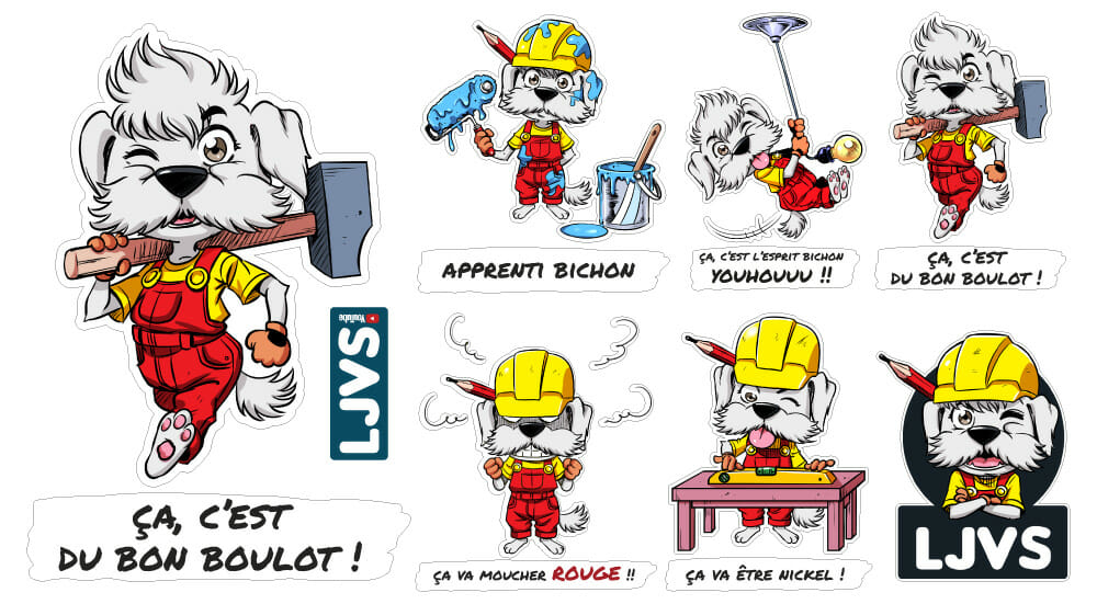 Planche De Stickers LJVS Grand Format N°3 TEAM LJVS